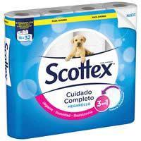 Scottex Papel higiénico mega 16 rollos