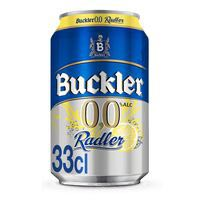 Buckler Radler Cerveza 0,0% Alc. Con zumo de Limón lata 33cl