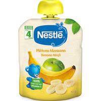 Nestlé Pouches manzana y plátano sin glúten 6meses 90g