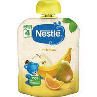 Nestlé Pouches 4 frutas sin glúten 6meses  90g