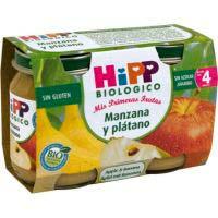 Hipp Tarrito Manzana y plátano sin glúten 4meses 2x125g