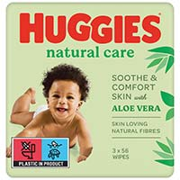 Huggies Tovalloletes natural care 2+1 192u
