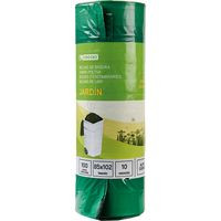 Eroski Bolsa basura jardín 100 litros, 85x102-10u