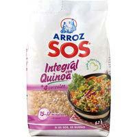 Arroz integral con quinoa SOS, paquete 500 g