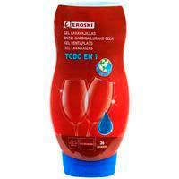 Rentavaixella màquina gel EROSKI, ampolla 36 dosi