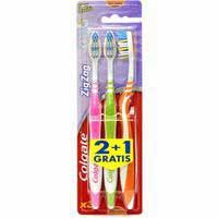 Cepillo manual Zig Zag suave COLGATE, pack 1+2 uds.