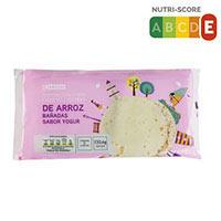 Eroski Tortitas arròs banyades gust iogurt 130g