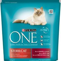 One Comida gato esterilizado buey 800g