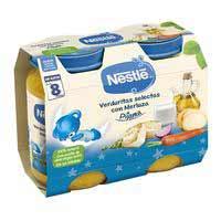 Nestlé Potet Sopar Verduretes lluç sense gluten 8meses 2x200g