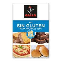 Mix harina sin gluten GALLO, caja 500 g