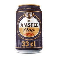 Amstel Oro Cerveza tostada lata 33cl