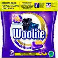 Detergent en càpsules roba negraWOOLITE, bossa 23 dosi