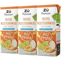 Zü Premium Suc amb llet fruites Mediterrànies 3x20cl