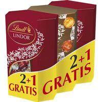 Bombones LINDT Cornet Lindor, pack 3x200 g