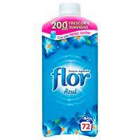 Suavizante concentrado azul FLOR, botella 72 dosis