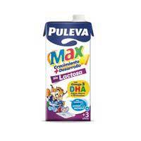 Puleva Max Leche sin lactosa energía y cremiento 1l