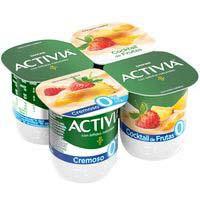 Activia bífidus Yogurt cremoso desnatado multifrutas 4x120g