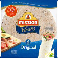 Mission Foods Tortitas Wrap original 6u 370g