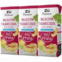 Zü Premium Lactozumo melocotón y albaricoque 3x20cl