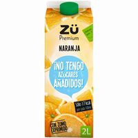 Zü Premium exprimido naranja sin azúcar 2l