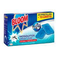 Anti mosquitos eléctrico en pastilla BLOOM, recambio 30 uds.