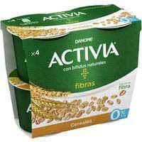 Activia bífidus desnatado con cereales Danone 4x120g