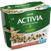 Activia bífidus con quinoa y semillas de calabaza Danone 4x120g