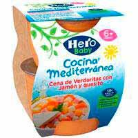 Sopar de verdura-pernil-formatge HERO Cuina M., pack 2x100 g