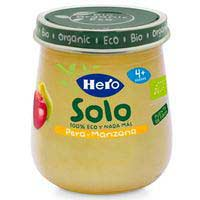 Hero Baby Solo pera y manzana eco 4 meses 120g