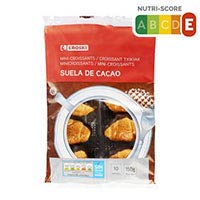 Eroski Mini croissants suela de chocolate 10x150g