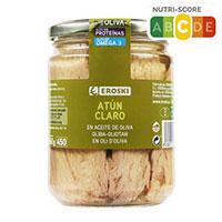 Eroski Tonyina clara en oli d'oliva flascó 400g