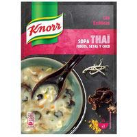 Sopa deshidratat Thai KNORR, sobre 69 g
