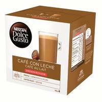 Nescafe Dolce Gusto café con leche descafeinado 16 cápsulas