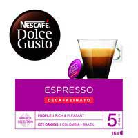 Nescafe Dolce Gusto Café expreso descafeinado 16 cápsulas