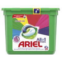Ariel Detergente cápsula 3 en 1 color 24 dosis