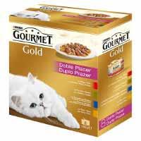 Gourmet Gold Menjar gat selecció 8u 680g