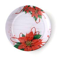 Plat Dp 22 cm flor de Nadal Gabbiano, pack 8 uds.