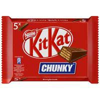 Barritas Chunky de chocolate con leche KIT KAT, pack 5x40 g