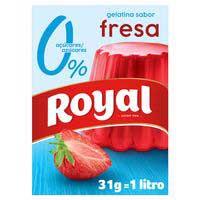 Gelatina de maduixa 0% sucres ROYAL, caixa 31 g