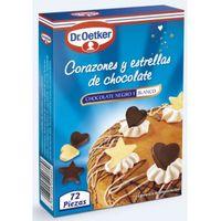 Dr. Oetker Estrellas y corazones de chocolate 37g