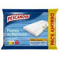 Pescanova Filete de merluza sin piel 800g