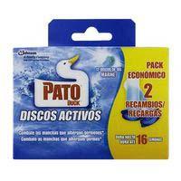 Pato Limpiador discos wc activos marino 2 recambios