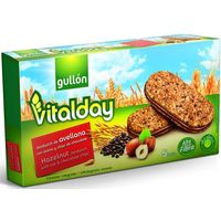 Gullón Galletas vitalday sandwich avellana, avena y chips de chocolate 220g