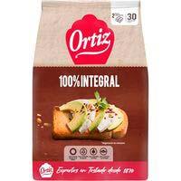 Ortiz Pan tostado integral 30 rebanadas324g