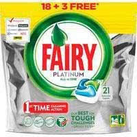Lavavajillas máquina FAIRY Platinum, bolsa 16+4 dosis