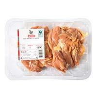 Volatería Muslos sin hueso de pollo 2-3 uni/ban. aprox. 600g