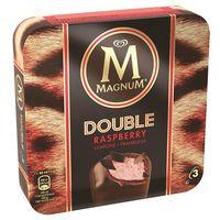 Bómbó Doble Raspberry MAGNUM, 3 unit, caixa 219 g