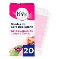 Veet Banda depilatoria Easy-Gelwax pieles normales 20u