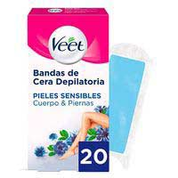 Veet Banda depilatoria Easy-Gelwax pieles sensibles 20u