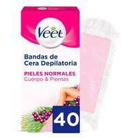 Veet Banda depilatoria Easy-Gelwax pieles normales 40u